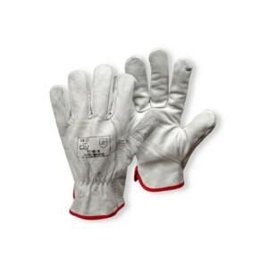 guanti pelle fiore bianchi
